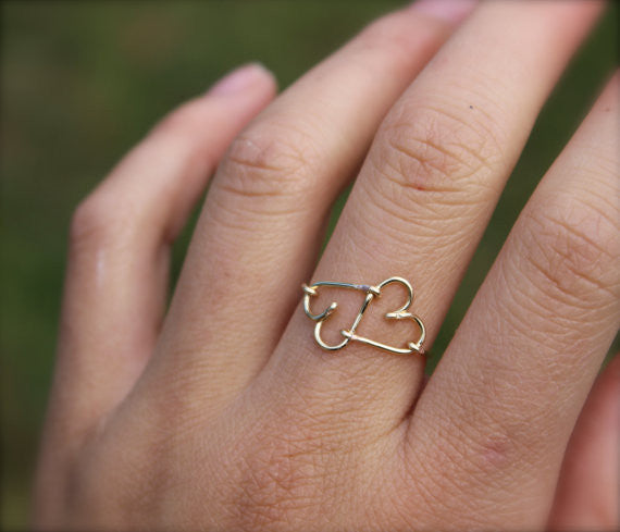 Infinity Heart Ring - Designed By Lei