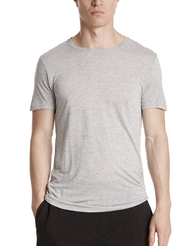 olor: Heather Grey|alt:ATM Modal Jersey Crew Neck Tee
