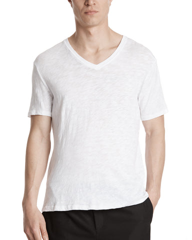 color: White|alt:ATM Slub Jersey V-Neck Tee