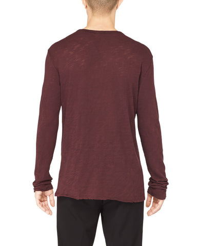 Slub Jersey Destroyed Wash Henley