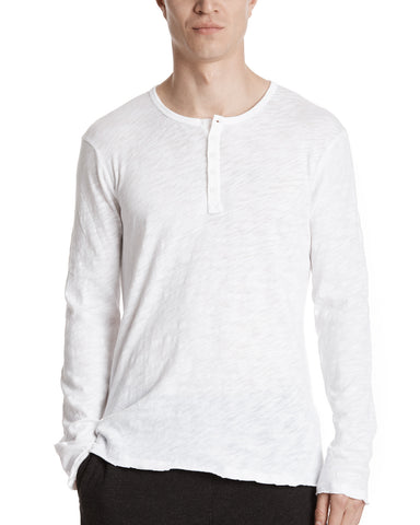 color:White|alt:ATM Slub Jersey Destroyed Wash Henley