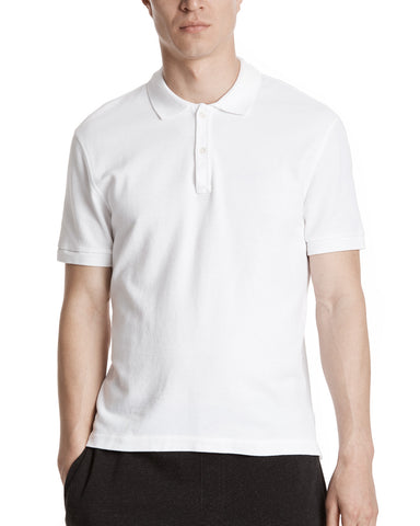 color:white|alt:ATM Cotton Pique Classic Polo