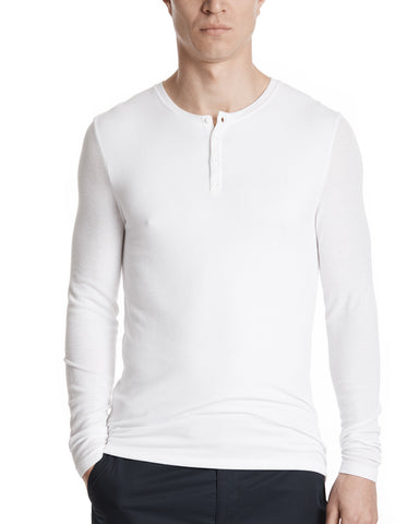 color:White|alt:ATM Modal Rib Long Sleeve Henley
