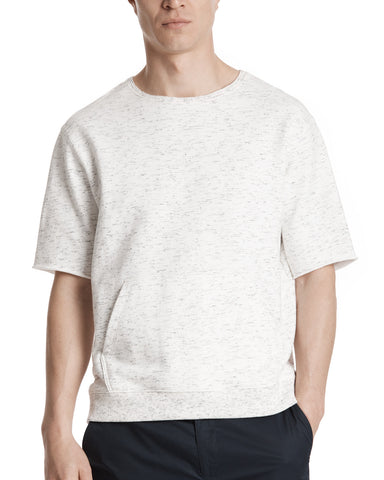 color:Chalk/Black Blast|alt:ATM Textured Cotton Short Sleeve Sweatshirt