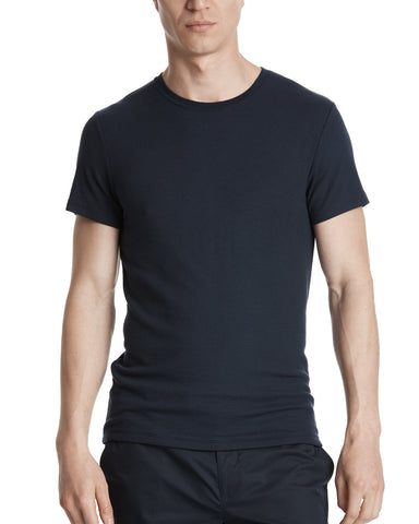 color:Midnight|alt:ATM Modal Rib Crew Neck Tee