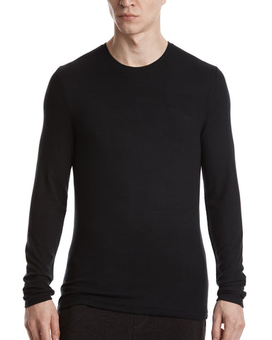 color:Black|alt:ATM Modal Rib Long Sleeve Crew