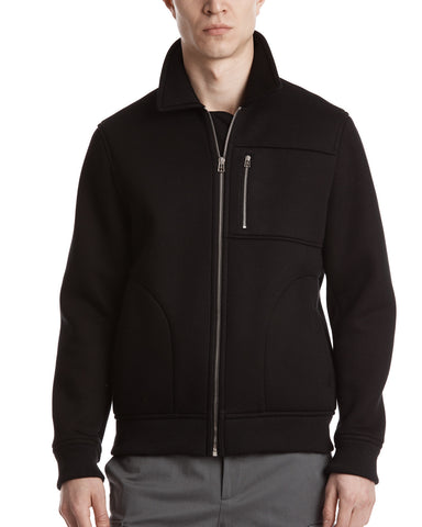color:Black|alt:ATM Neoprene Zip Up Jacket