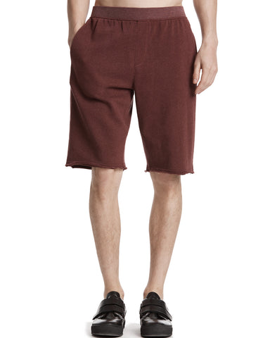 color:Brown Stone|alt:ATM Raw Hem French Terry Pull-On Shorts