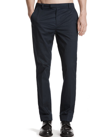 color:Midnight|alt:ATM Cuffed Cotton Poplin Classic Pants