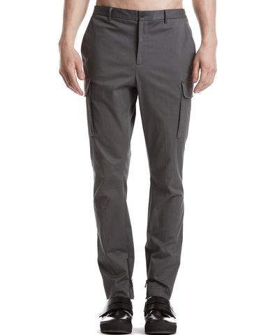 color:Smoke|alt:ATM Stretch Cotton Twill Moto Pants with Cargo Pockets