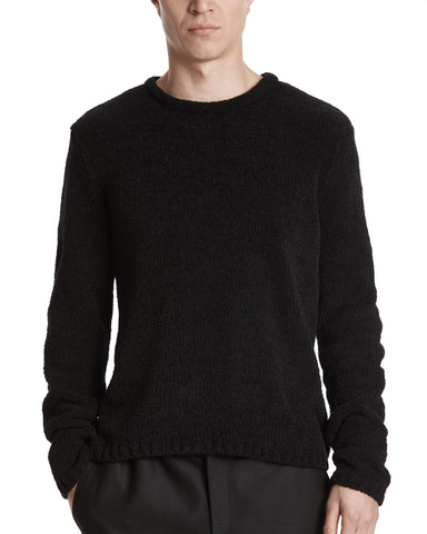color:Black|alt:ATM Chenille Crew Neck Sweater
