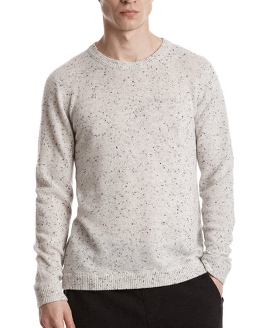 color:Frost|alt:ATM Donegal Cashmere Crewneck Sweater