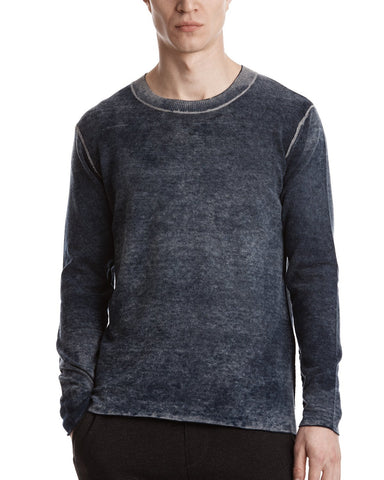 color:Midnight|alt ATM Cashmere Blend Printed Sweater