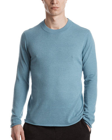 color:French Blue|alt:ATM Slim Cashmere Crewneck Sweater