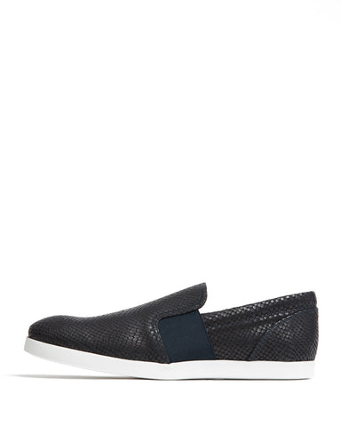 color:Midnight Python-Texture Leather|alt:ATM Hampton Slip-On Sneaker