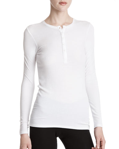 color:White|alt:ATM Long Sleeve Rib Henley