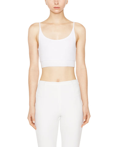 color:White|alt:ATM Modal Rib Cropped Cami