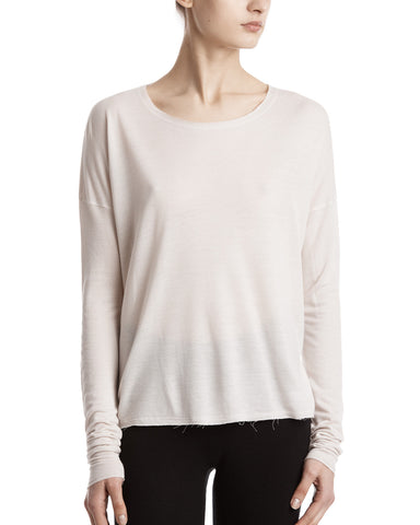 color:Dusty Ivory|alt:ATM French Terry V-Neck Tee