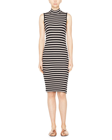 Modal Rib Mock Neck Dress