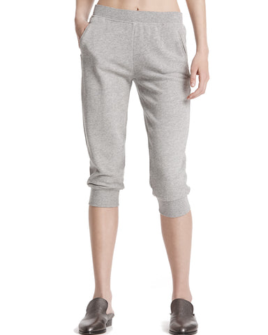 color:Heather Grey|alt:ATM French Terry Slim Cropped Sweat Pant