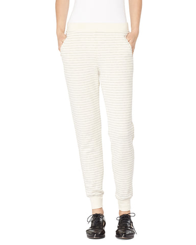 French Terry Striped Sweat Pants