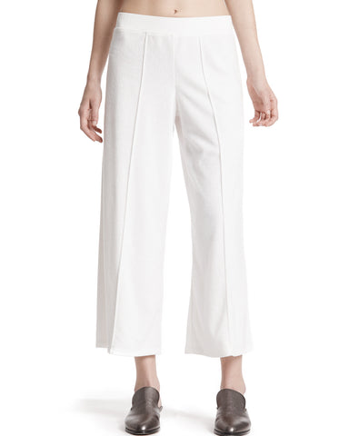 color:White|alt:ATM Cropped French Terry Wide-Leg Pants
