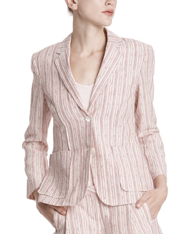 color:English Rose/Chalk|alt:ATM Textured Linen Striped Schoolboy Blazer