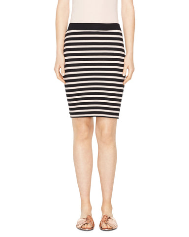 Modal Rib Stripe Skirt