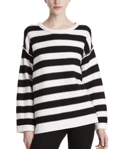 color:Chalk/Black Stripe|alt:ATM Merino Wool Oversized Sweater