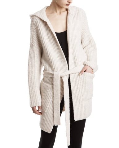 color:Dusty Ivory|alt:ATM Belted ribbed wool-blend cardigan