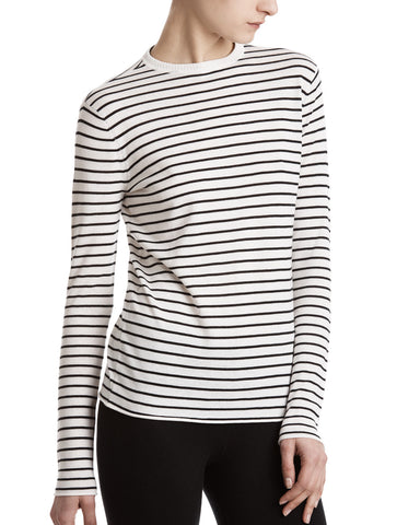 color:Chalk/Black|alt:ATM Striped Crew Neck Sweater