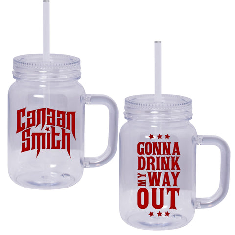 Drink My Way Out Mason Jar