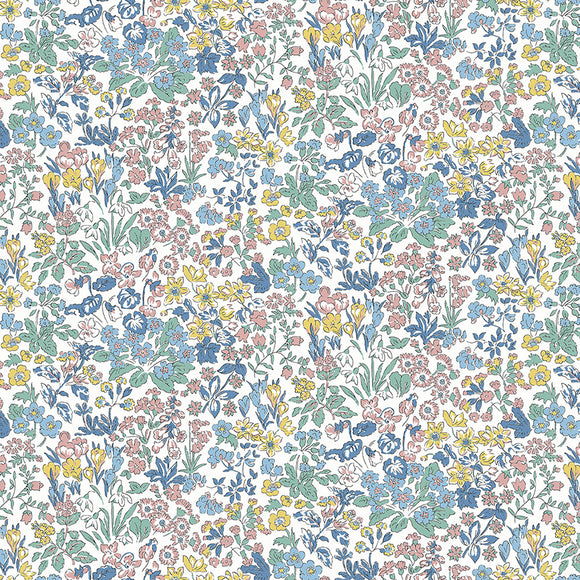 Wisely Flowers - Liberty Flower Show Spring Collection - 100% Cotton Fabric