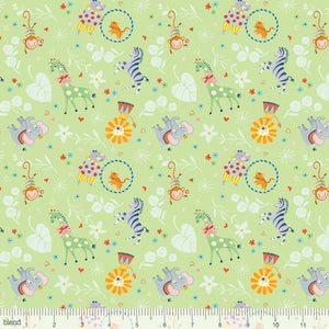 Circus Big Top Mint - Storytime - Blend Cotton Fabric