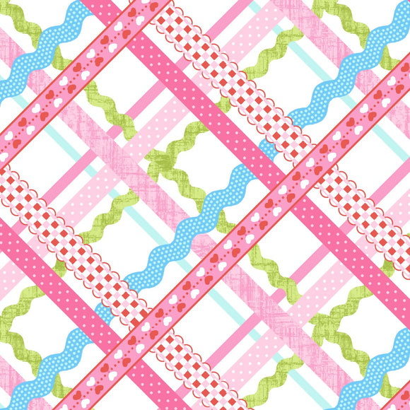 Ribbon and Ric Rac - Sew Kind -  Studio E Cotton Fabric