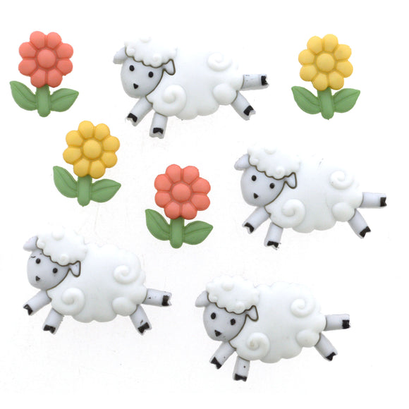 Counting Sheep  - Dress It Up Buttons