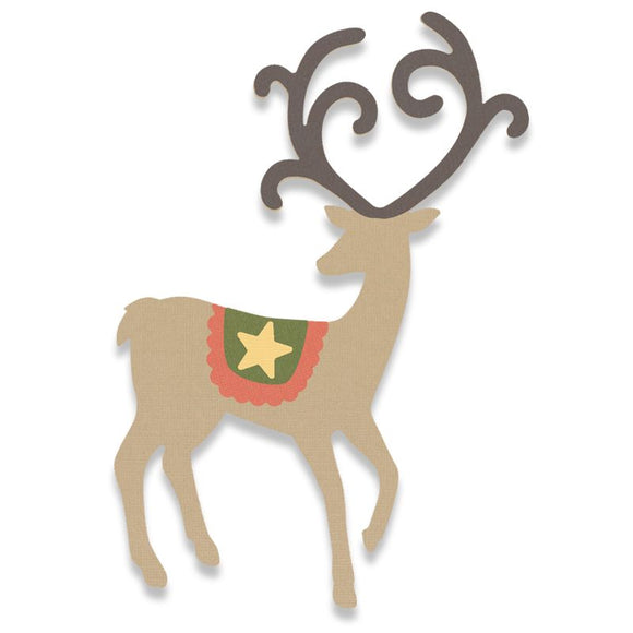 Sizzix Graceful Reindeer Die Bigz - 662867