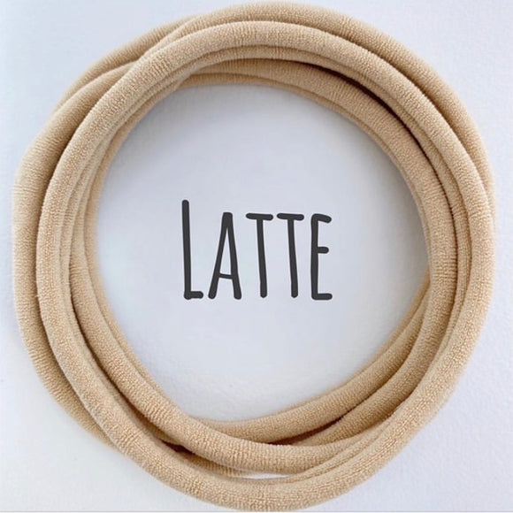 Latte - Dainties by Nylon Headbands