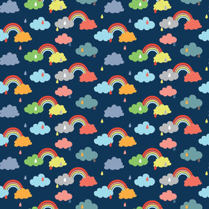 Promise Navy - Noah's Ark - Riley Blake Cotton Fabric