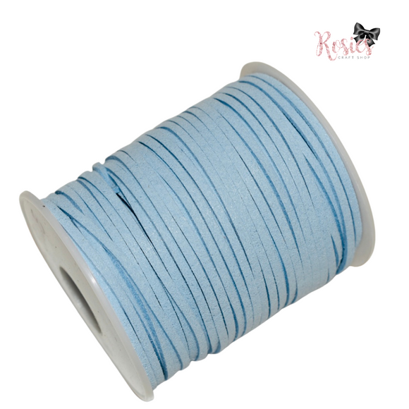 3mm Baby Blue Suede Cord