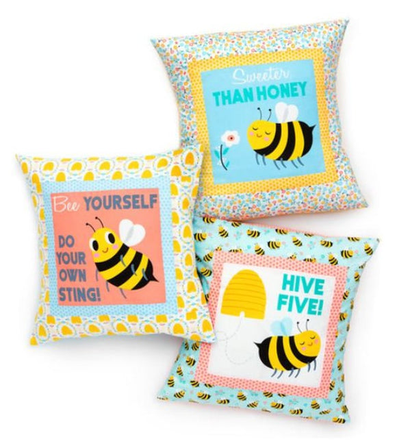 Bees Knees Pillow Panel - Bees Knees - Robert Kaufman