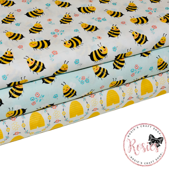 Bumble Bees & Beehive - Bees Knees - Robert Kaufman