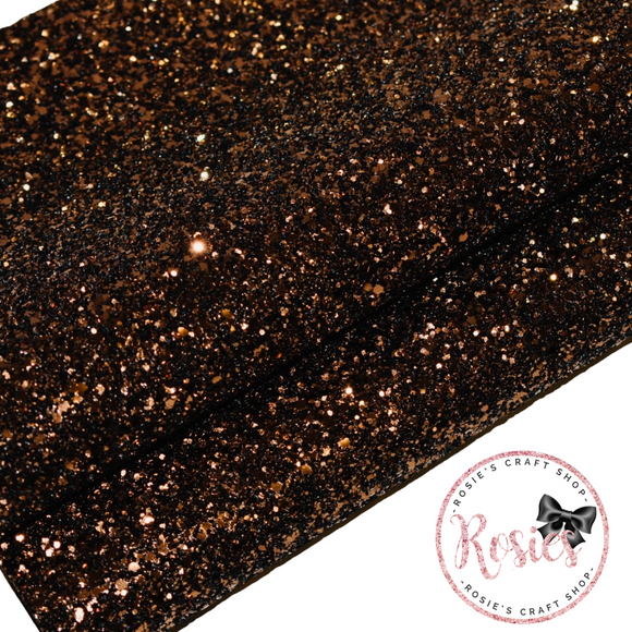 Brown Chunky Glitter Fabric - Luxury Core Collection