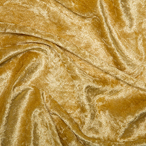 Gold Crushed Velvet Fabric