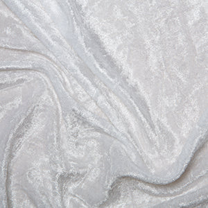 White Crushed Velvet Fabric Felt