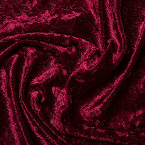 Damson Crushed Velvet Fabric