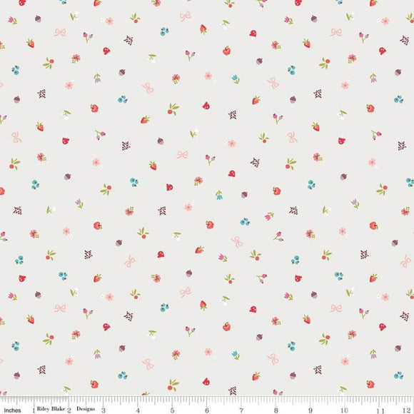 Red Riding Hood Bits Cream - Little Red In The Woods by Riley Blake - 100% Cotton Fabric