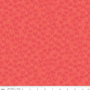 Red Riding Hood Bows Red - Little Red In The Woods by Riley Blake - 100% Cotton Fabric