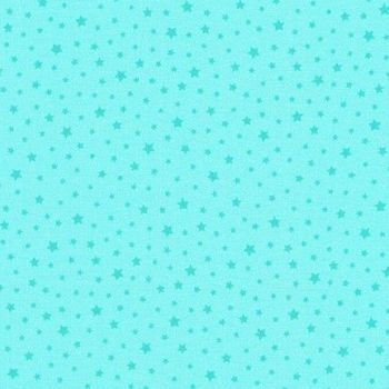 Princess Stars Blue - Chasing Rainbows - Robert Kaufman Cotton Fabric