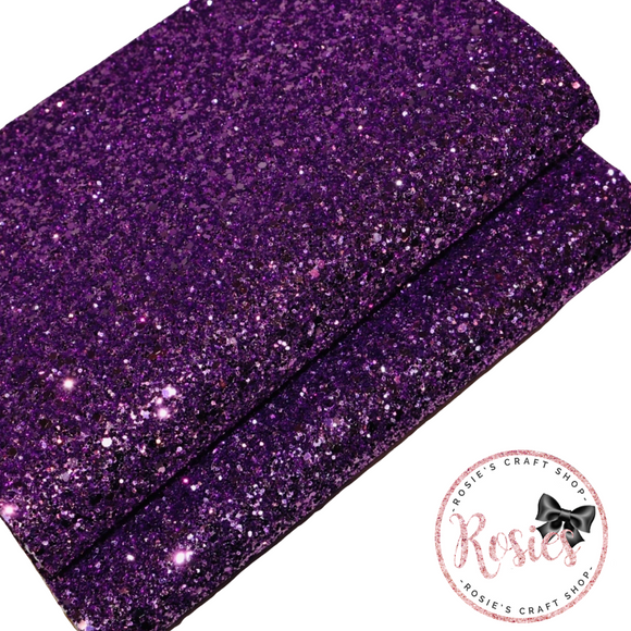 Purple Chunky Glitter Fabric - Luxury Core Collection